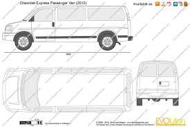 The-Blueprints.com - Vector Drawing - Chevrolet Express Passenger Van