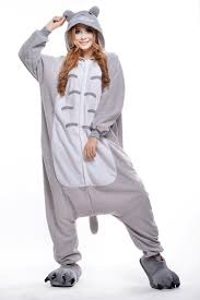 plus size footed pajamas totoro costume plus size halloween costume for women mens onesie