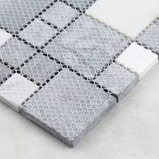 grey stone with white crystal mosaic tile sheet marble backsplash of wall stickers bedroom kitchen