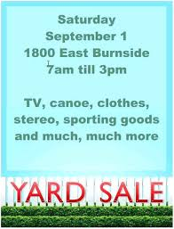 Creative Yard Sale Sign Free Community Yard Sale Flyer Template