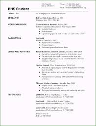 No Experience Student Resumes Well Designed Resume Templates High School Students No