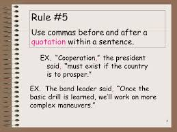 When To Use Comma When Do I Use A Comma Quick Rules For Comma Usage Ppt Download