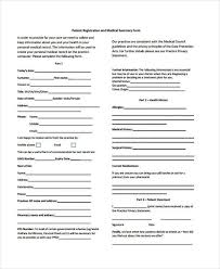 medical patient registration form 100 new patient medical history form template welcome and