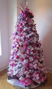 How To Put Ribbon Garland On A Christmas Tree  Ribbon Garland Purple Christmas Tree Bows