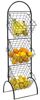 sorbus 3 tier wire market basket storage stand for fruit vegetables toiletries