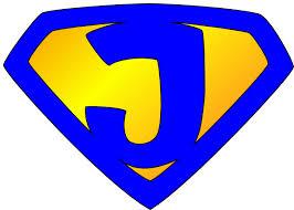 Jesus Superhero Logo Blue Yellow Clip Art Vector Online | Company ...
