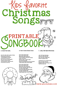 Christmas For Kids Christmas Songs For Kids Free Printable Songbook Coloring