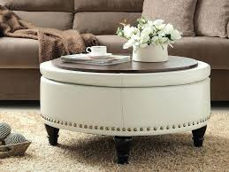 white leather coffee tables white leather ottoman coffee table tray image and description