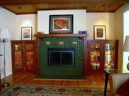 craftsman style fireplace mantel traditional living room built ins