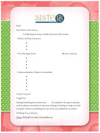 Handout To Update Sisters In Other Organizations Relief