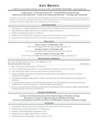 Math Teacher Resume Example Example Of Resume For Teachers Resume ...
