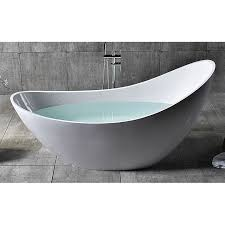 home 73 inch solid surface smooth resin soaking slipper bathtub
