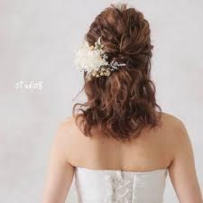 ミディアムヘアの花嫁様必見ヘアスタイル Dressyドレシーby 花嫁
