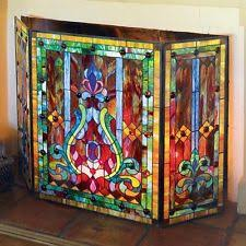 River of Goods 8221 Stained Glass Fireplace Screen | eBay