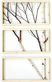 framed birch art totally going to do this with my old vintage window or this way  on birch tree branch wall art with birch branch triptych wall hanging triptych original art rustic