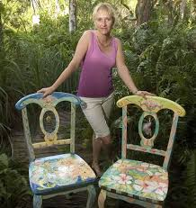 tropical painted furniture. painted furniture sissi janku with chairs tropical
