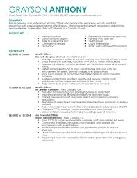 Security Officer Resume Skills Security Skills For Resumes