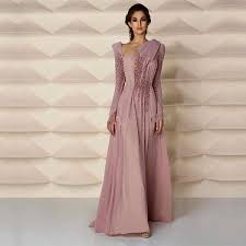 <b>Middle East Style Muslim</b> Evening Gown With Long Sleeve Pearls ...
