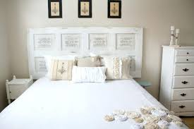 white wooden old door headboard ideas with sets plus rustic diy contemporary woode