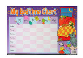 Bedtime Chart My Bedtime Chart Reward Wall Chart With Free Star Stickers