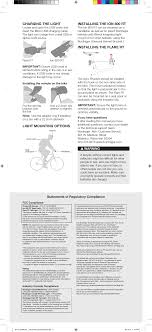 Ion 2 Bicycle Light C97371576 Ion 800rt User Manual
