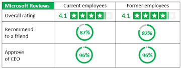 so one could reason that at least in microsoft s case having a formal corporate alumni program has had positive impact on its glassdoor reviews