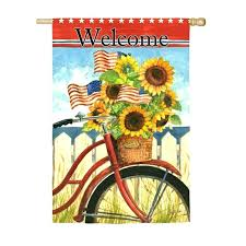 evergreen flag and garden evergreen garden flags patriotic sunflowers on a bicycle suede reflections house flag evergreen flag and garden