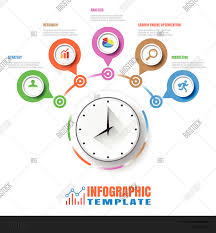 Clock Chart Template Business Modern Vector Photo Free Trial Bigstock