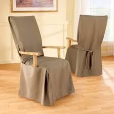 sure fit cotton duck long arm dining room chair cover hayneedle covers for chairs best furniture best free home design idea inspiration