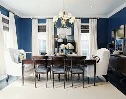 navy blue dining rooms. D) Navy Blue Dining Room With White Curtains, So Fresh Looking Rooms D