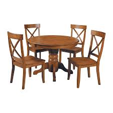 home styles cottage oak 5 piece dining set with round dining table