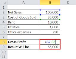 Gross Profit Formula Excel Gross Profit Margin Formula Percentage Calculator Excel