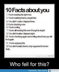 10 facts about you | Memes.com via Relatably.com