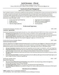 Get Construction Manager Resume Page 1 Freemanfrenzy Com