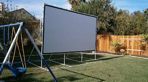 backyard theater church screen diy