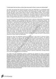 same sex relationships legal studies essay year hsc legal same sex relationships legal studies essay