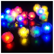 Camping Christmas Lights Wsfs Hot Outdoor String Fairy Lights Snowball Outdoor For Outside Garden Camping Patio Party Christmas Colorful Color In Solar Lamps From Lights