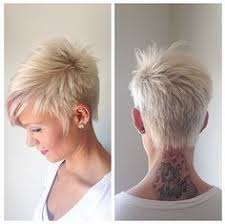 Short Hairstyle 2015 short platinum blonde boycut with side swept bangs for women 6188 by stevesalt.us