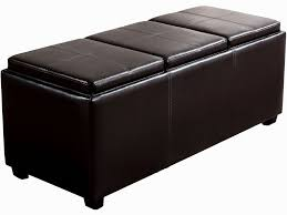Living Room Ottoman With Storage Furniture 76 Dark Brown Ottoman With Storage And Tray On The