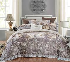 grey jacquard silk cotton luxury bedding set king size queen bed set lace duvet cover bed sheet pillowcase queen size comforter sets cowboy bedding