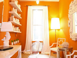 orange home office. Orange Home Office With White Furniture A