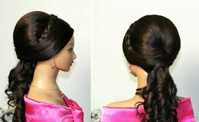 Curly Wedding Prom Hairstyles For Long Hair Youtube