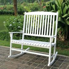 outdoor rocking bench outdoor rocking chair white double seat lawn patio wood garden furniture modern outdoor outdoor rocking