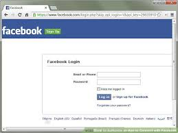 Facebook Login Sign In How To Authorize An App To Connect With Facebook 11 Steps