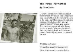 from literature to life ppt 64 the things they carried