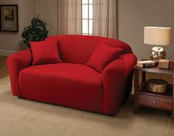 Amazon Jersey Stretch Furniture Slipcovers Red Loveseat