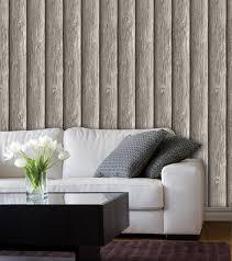 Bolcom Dutch Wallcoverings Schuimvinylbehang Hout Grijs