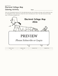 electoral college map coloring activity enchanted learning title electoral college