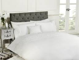 white king size duvet cover and 2 pillowcases bedset bedding raised rose ruffled about this picture 1 of 4 picture 2 of 4