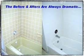 worn out fiberglass tub surround before refinishing painting bathtub paint refinishers enclosure